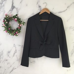 Theory Tie Front Wool Blazer